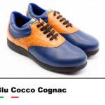 Golfschuhe_Belleggia_Blu_Cocco_Cognac